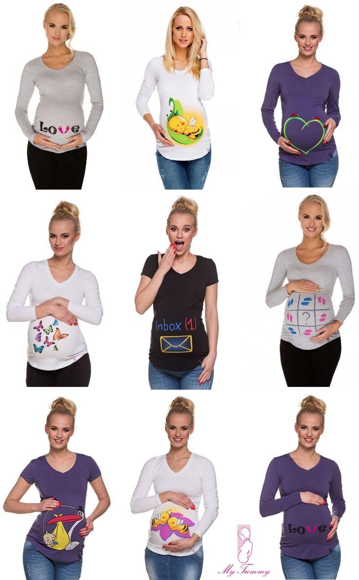 Těhotenské tričko s potiskem oznámi šťastnou zprávu za vás a beze slov.
