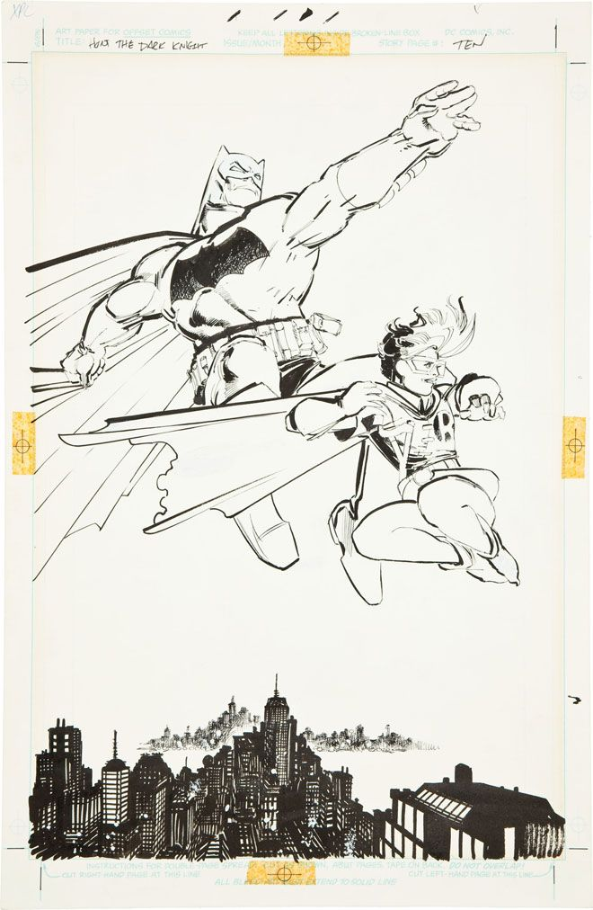 Frank Miller Original Artwork from The Dark Knight Returns