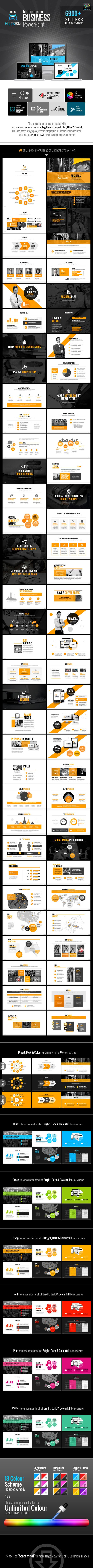 HappyBiz Multipurpose Business Template - Business PowerPoint Templates