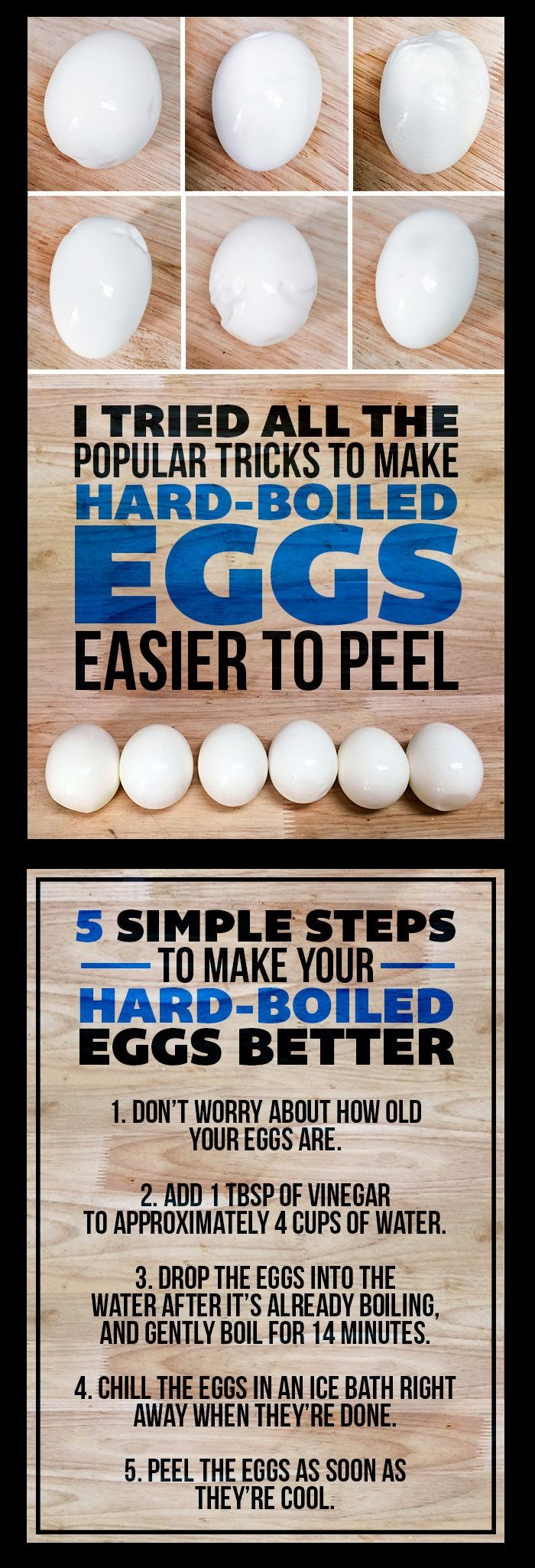 Every Hard-Boiled Egg Peeling Method Tested, w/ BEST Results & TIPS http://www.buzzfeed.com/mathewjedeikin/vinegar-makes-eggs-easier-to-peel/ || **NOTE** for softer yolks, cook for HALF the time.