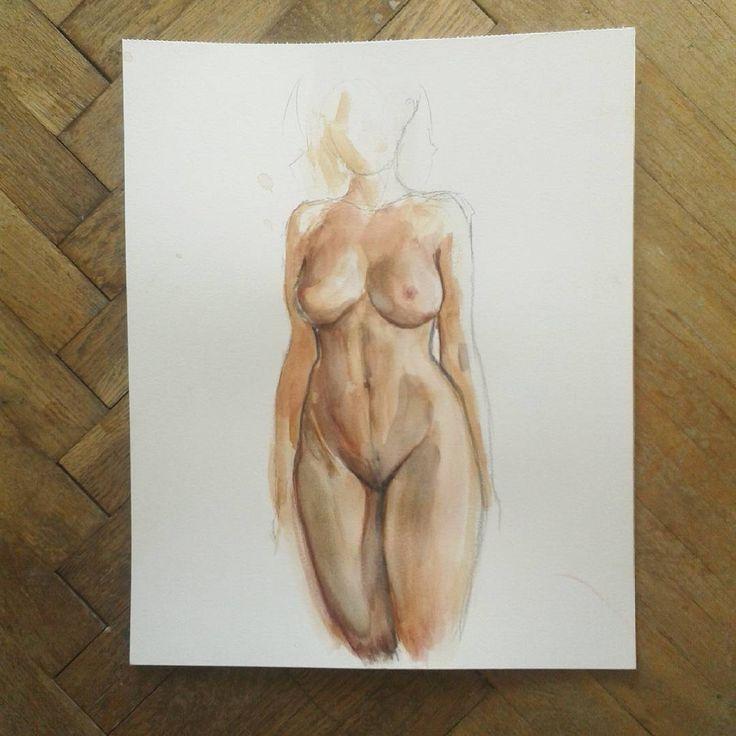 #nude #anatomy #artlife #art #girl #showyourwork #illustratorsoninstagram #akt #artist #painting
