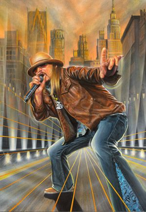 """Kid Rock ~ Artist Marc Lacourciere - Detroit's own King of Rock n' Roll, Robert James """"Bob"""" Ritchie known by his stage name Kid Rock, is a singer-songwriter, musician, multiple instrumentalist and rapper."""
