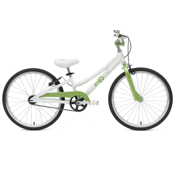 ByK E-450 Kid's Bike, 20 inch Wheels, 10 inch Frame, for Boys and Girls, Lime Green