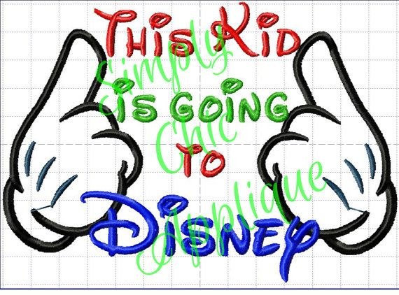 Instant Download Going to Disney Applique - Embroidery Design Disney
