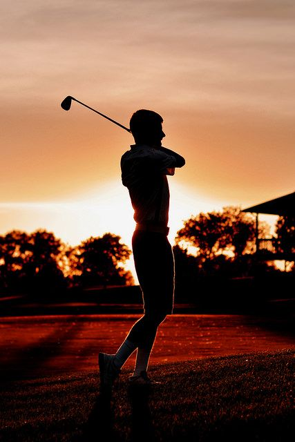 Senior Picture - Golf Silhouette, then tinted Warrior Red