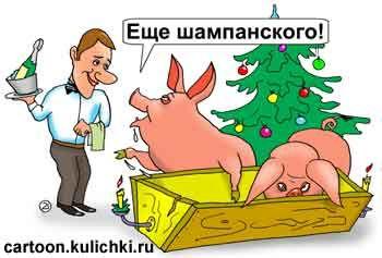 прикольные картинки про уходящий год свиньи стенлей один самых