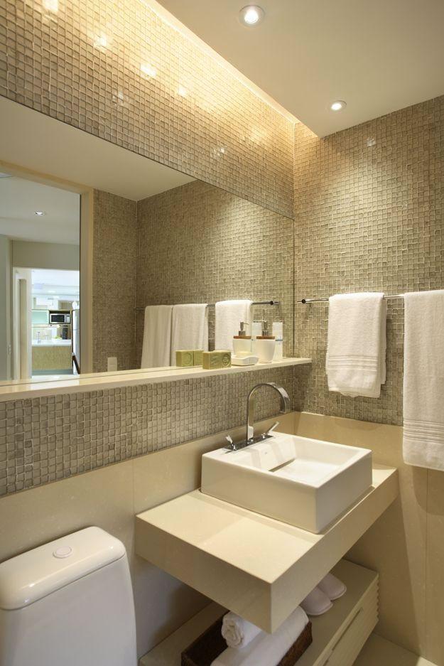 Decoracao de banheiro com pastilha iluminacao banheiro  Banheiros e Lavabos  -> Decoracao De Banheiro Com Pastilha Amarela