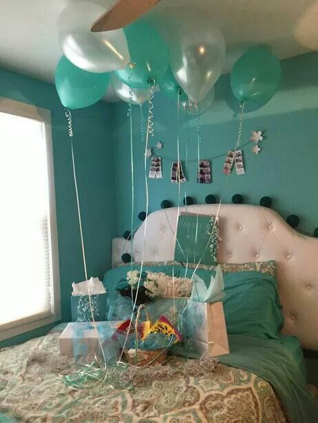Imagine going into your room on your birthday and seeing this....XD