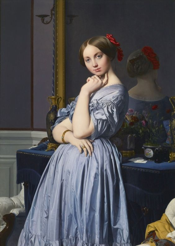La Vicomtesse d'Haussonville, Ingres; 1845, olio su tela, Collection Frick, New York.