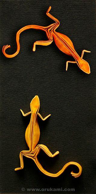 Richard Wang Origami Gecko by Himanshu (Mumbai, India), via Flickr