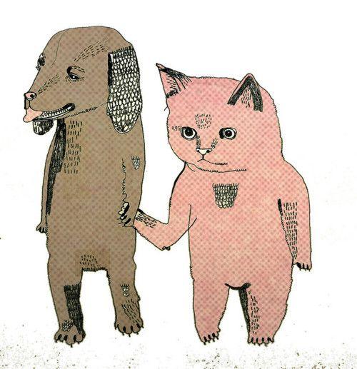 ;Julia Pott illustration dog & cat