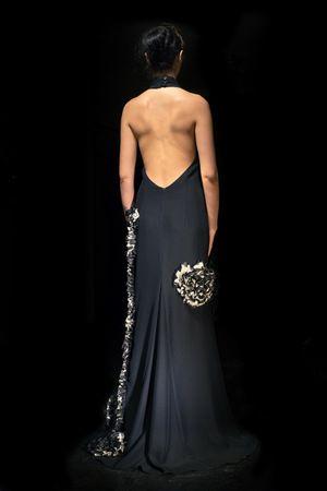 Alkmini collection, black dress with open back. www.alkmini.info