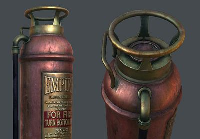 Preview for Create a Game Ready Fire Extinguisher with 3D Studio Max: Part 5