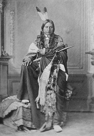 American Indians : Iron Shell - Sicangu 1872.