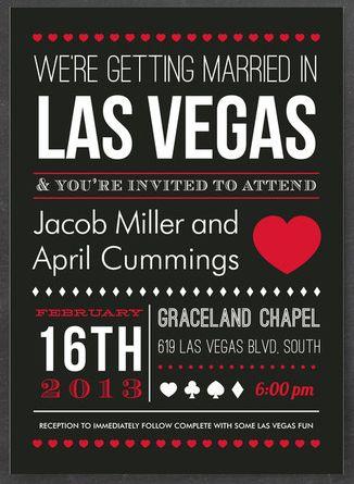 Little Vegas Wedding | 7 Unexpected Las Vegas Wedding Invitations | http://www.littlevegaswedding.com