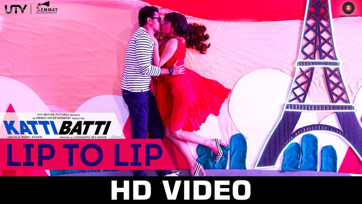 Sung by Ritu Pathak and Nikhil D'Souza, Lip to Lip is an offbeat romantic song from the film Katti Batti.  The song features Imran Khan and Kangana Ranaut.
