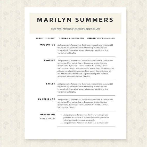 classic resume template - Template