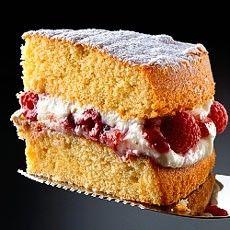 All-in-one Sponge Cake with Raspberry and Mascarpone Cream
