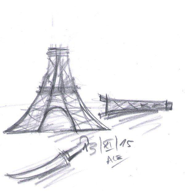 Le Figaro Compte certifié @Le_Figaro  Alejandro R. nous envoie ce dessin. «Je suis professeur aux Beaux Arts. J'illustre ma tristesse.» #fusillade #Paris