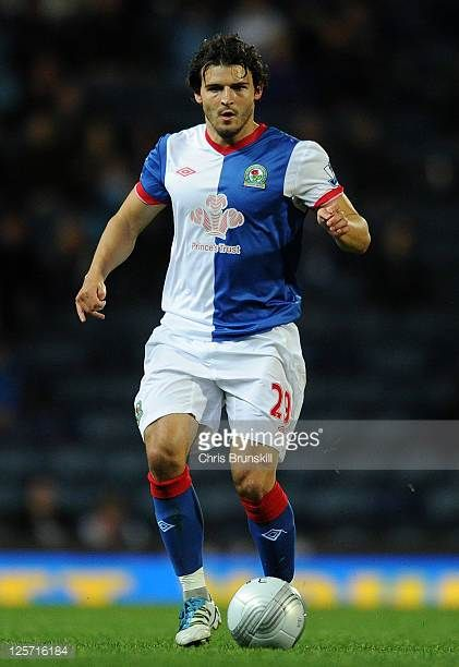 Simon Vukcevic of Blackburn Rovers in action during the Carling Cup Third Round match between Blackburn Rovers and Leyton Orient at Ewood Park on...