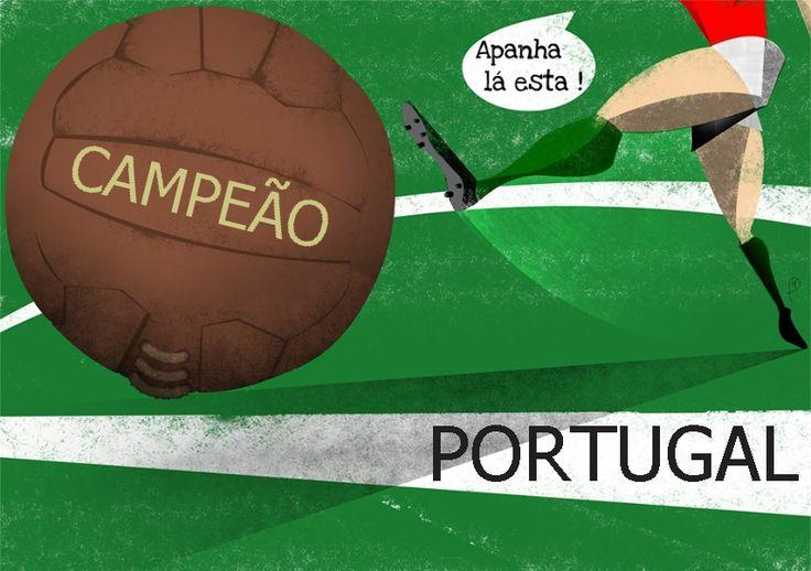 Foi lindo ver esta vitória de Portugal no EURO2016. A partir de hoje, Portugal é sinónimo de campeão (que o seja em muitas outras áreas)!...
