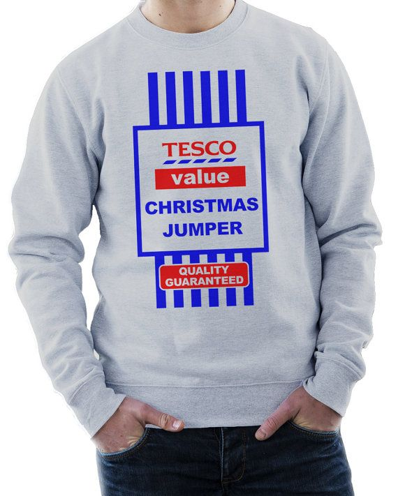 Hey, I found this really awesome Etsy listing at https://www.etsy.com/listing/207962940/tesco-value-funny-christmas-jumper