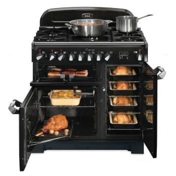 AGA ALEG36DFCRN 36 Inch Pro-Style Dual Fuel Range with Convection, Glide-Out Broiler, Multifunction Oven, 4.5 cu. ft. Total Capacity, 5 Sealed Gas Burners, Handyrack Technology, Delay Cook, Timer and Plate Warming Rack: Cranberry