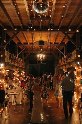 barn reception: Farms Wedding, Discos Ball, Wedding Receptions, Dance Floors, Barns Receptions, Christmas Lights, Tyrone Farms, Barns Wedding, Rustic Wedding