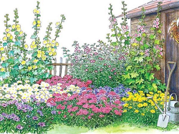 Bauerngarten Blumenbeet