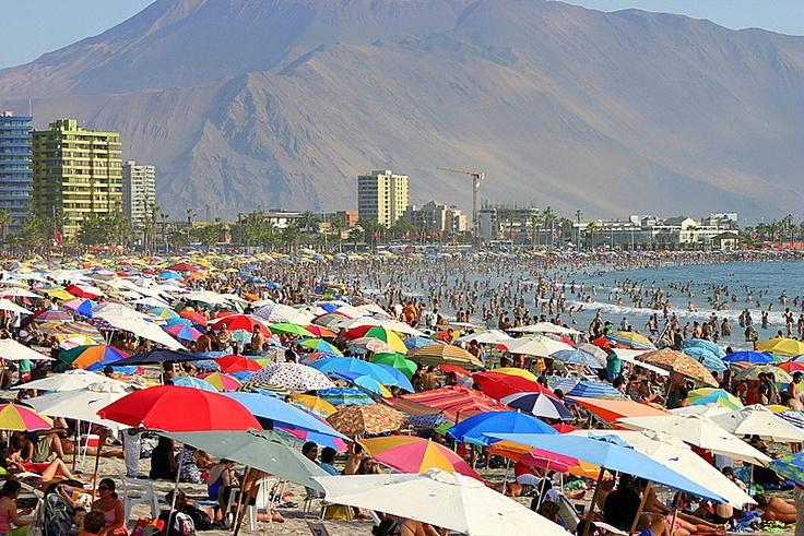 The Umbrella beach Iquique