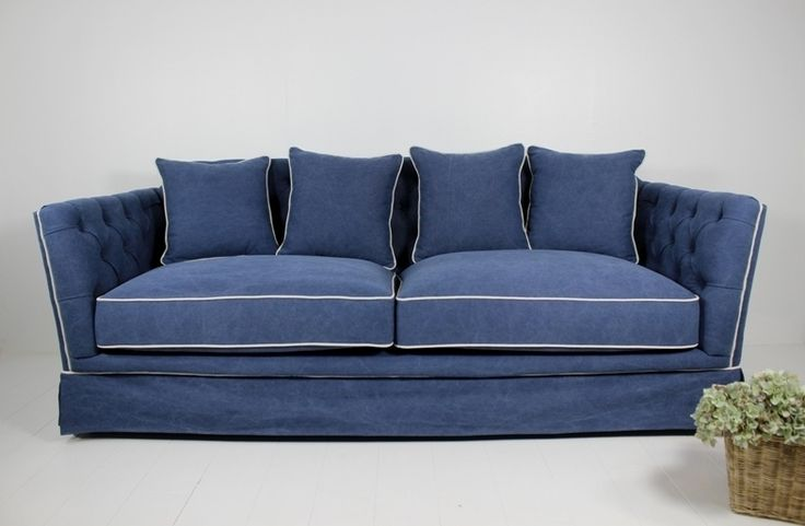 Sofa Imogen 3 Seat Navy at Villa Maison