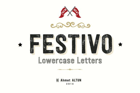 I just released Festivo Lowercase 75%Off on Creative Market.
