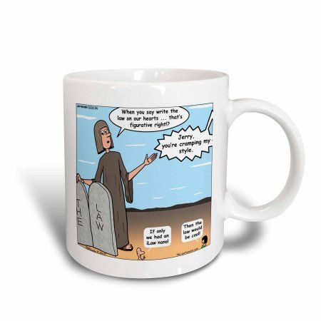 3dRose Jeremiah 31 31 34 Two Tablets for Your Heart Bible commandments heart write ipod nano, Ceramic Mug, 11-ounce