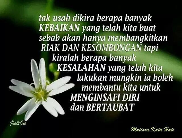 Menginsafi diri itu lebih indah. ~ Alhad Syah