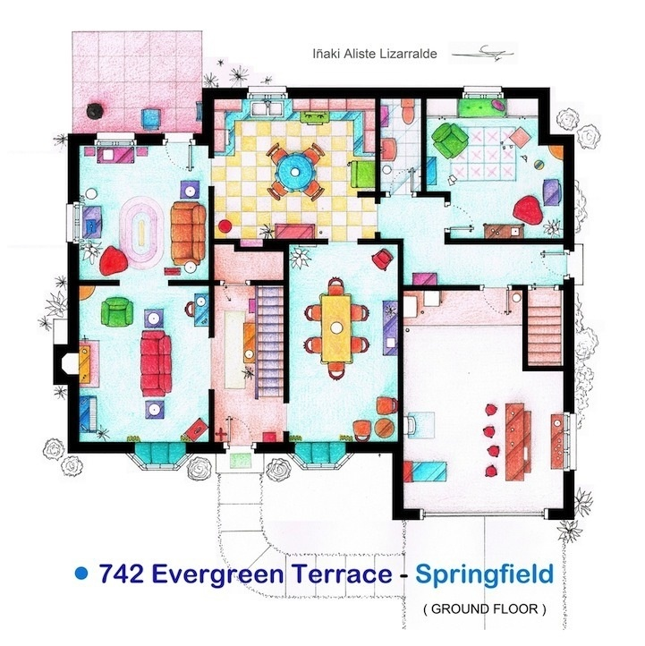 742 evergreen terrace cartoons pictures pinterest