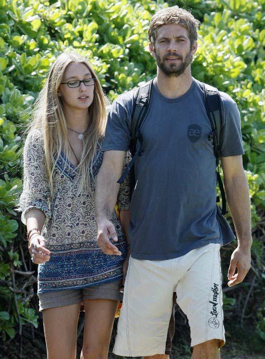 Paul Walker with ex-girlfriend Jasmine Pilchard-Gosnell in Hawaii in January 2009...