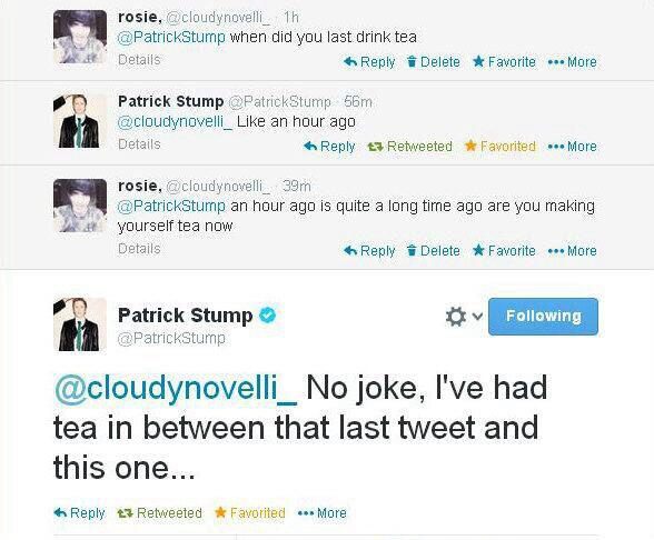 Patrick Stump. Is one awesome fellow. Plus this accurately describes the life of a singer