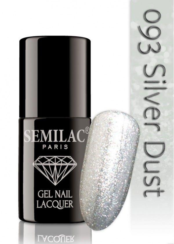 Semilac 093 Silver Dust UV&LED Nagellack