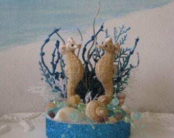 Rosa de la torta de Caballito de mar  Topper de la torta de