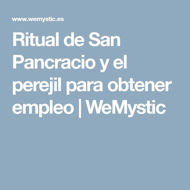 Ritual de San Pancracio y el perejil para obtener empleo | WeMystic