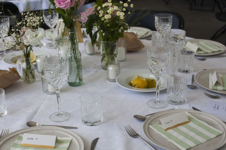 Wedding // Table Setting // Gold Dipped