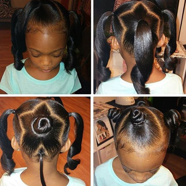 How cute is this style by @detroit_naturals  Love it#detroithair #kidshairstyles #ponytails #voiceofhair ========================== Go to VoiceOfHair.com ========================= Find hairstyles and hair tips! =========================
