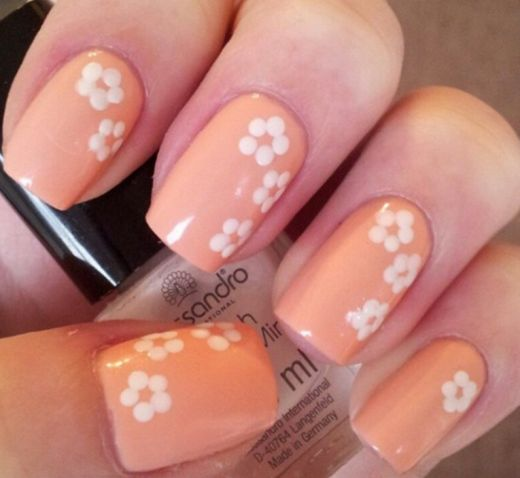 cute baby dots on nails