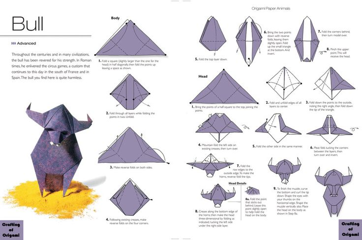 Origami Bull Instructions Photo For Those Of Us Who Are Taurus
