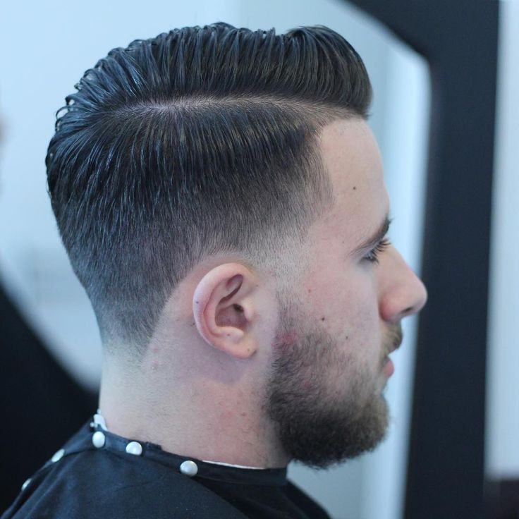 Good Haircuts For Men 2017: Stubble Taper With Hard Part Haircuts For Men 2017