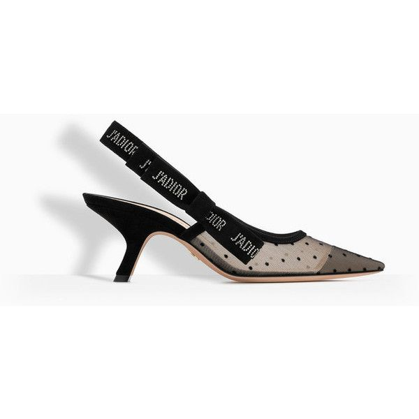 High-heeled shoe in nude and black dotted swiss and rhinestones - Dior ❤ liked on Polyvore featuring shoes, pumps, kohl shoes, nude court shoes, nude shoes, high heel shoes and rhinestone shoes