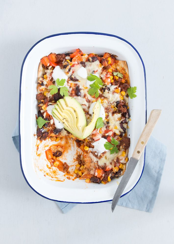 Uit Pauline's Keuken: Mexicaanse wrap lasagne