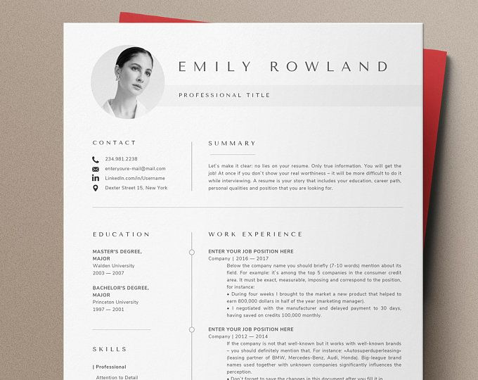 New Creative Resume Template Cv Template Instant Download Etsy Resume Template Word Teacher Resume Template Creative Resume Templates