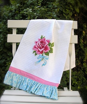 The Late Bloomer ~ dish towel