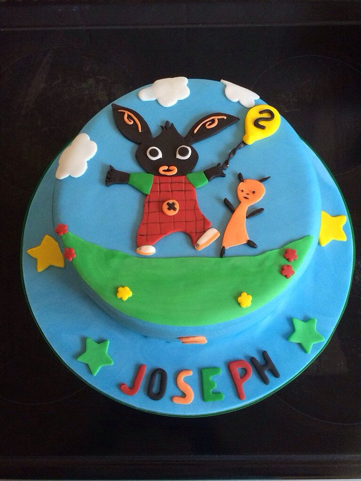 Cbeebies Bing and Flop cake #yummiliciouscakes